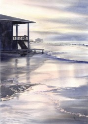 After the Storm By Mary Ellen Golden, Watercolor Painting
