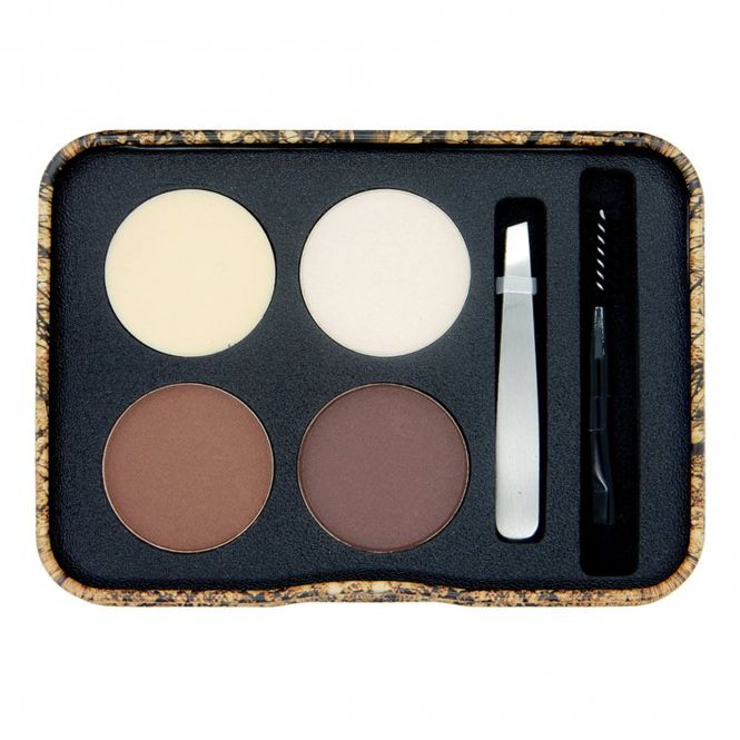 W7 Very Vegan Brow Eco Eyebrow Grooming Kit Tin